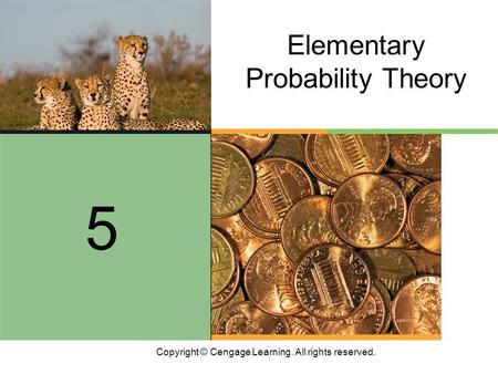 Copyright © Cengage Learning. All rights reserved. Elementary Probability Theory 5.