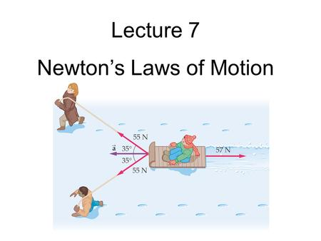 Lecture 7 Newton's Laws of Motion. Midterm Test #1 - Thursday!  21 multiple-choice problems - A calculator will be needed. - CHECK YOUR BATTERIES! -