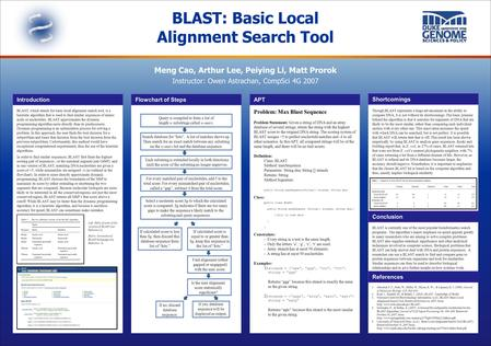 BLAST, which stands for basic local alignment search tool, is a heuristic algorithm that is used to find similar sequences of amino acids or nucleotides.