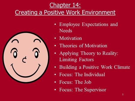 relationship of the employee to environment