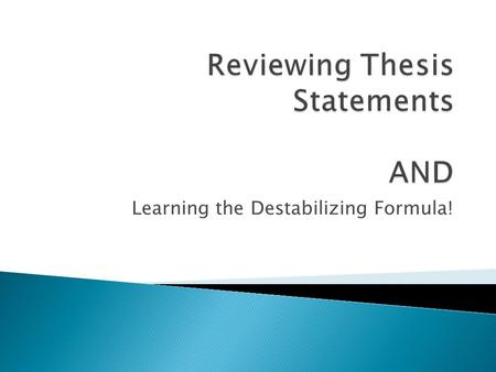 thesis statement for multiple questions If your assignment asks a specific question(s) compose a draft thesis statement what to keep in mind as you draft an initial thesis statement.