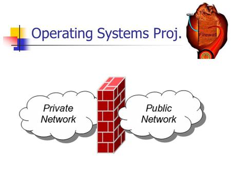 Operating Systems Proj.. Background A firewall is an information technology (IT) security device which is configured to permit, deny or proxy data connections.