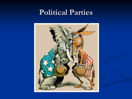 "Political Parties. The Meaning of Party Political Party: – A ""team of men and women seeking to control the governing apparatus by gaining office in a."