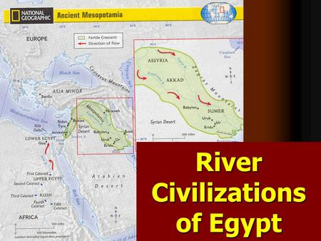 River Civilizations of Egypt. Pyramids of the Nile.