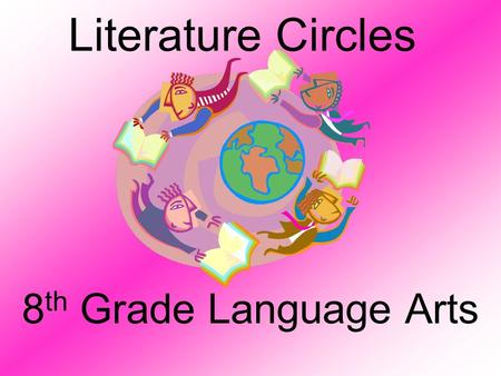 Literature Circles 8 th Grade Language Arts Purpose analyze what you read in an in-depth way respect others' opinions about literature listen and learn.