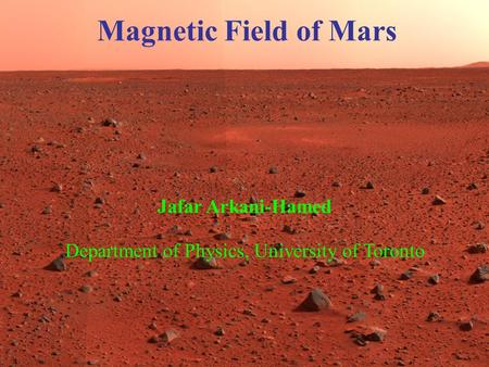 A public lecture presenting the findings of the recent Mars missions and their implications for Martian surface properties, internal structure, and evolution.