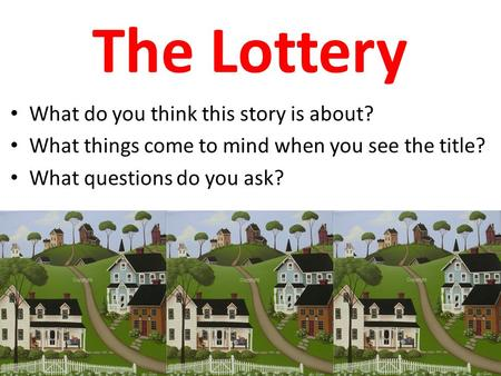 the lottery jackson essay questions