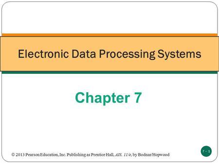 EDP (electronic data processing)
