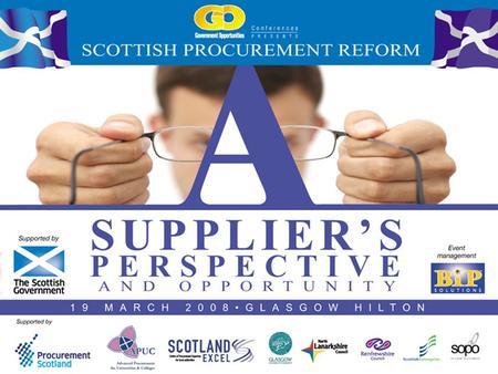 Scottish Procurement Reform Opportunities – Working with Scottish Enterprise Phil Martin Director, Network Procurement.