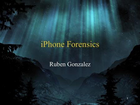 1 iPhone Forensics Ruben Gonzalez. 2 Agenda I am the iPhone iPhone Components OS and System Architecture Let's Dive into iPhone Forensics Evidence Left.