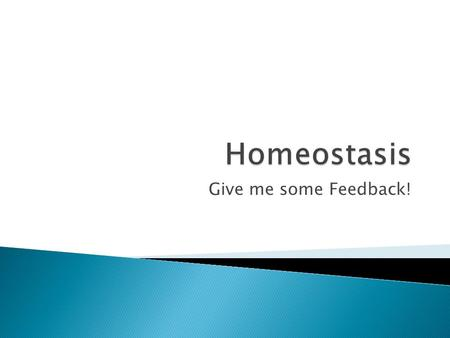 Give me some Feedback!. 2 Homeostasis* * Maintaining of a stable internal environment Homeostatic Control Mechanisms – monitors aspects of the internal.