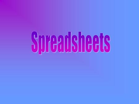 An applications program, used in financial forecasting, that can quickly handle calculations and perform evaluations. A spread sheet uses numbers like.