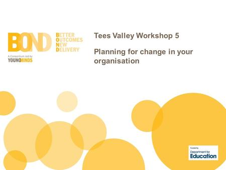 Tees Valley Workshop 5 Planning for change in your organisation.