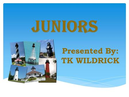 JUNIORS Presented By: TK WILDRICK. Juniors are members of the Auxiliary and are organized as a Committee of a Unit. Juniors are NOT a separate Auxiliary.