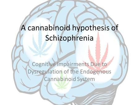A cannabinoid hypothesis of Schizophrenia Cognitive Impairments Due to Dysregulation of the Endogenous Cannabinoid System.