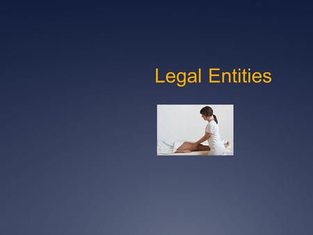 Legal Entities. 1. Sole Proprietorship 2. Corporation 3. Limited Liability Company (LLC)