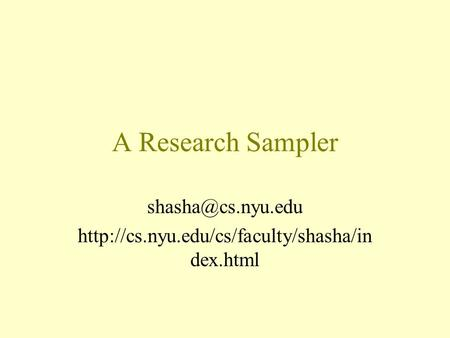 A Research Sampler  dex.html.