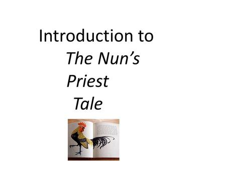 nun priest tale essay questions
