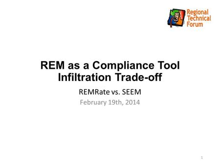 REM as a Compliance Tool Infiltration Trade-off REMRate vs. SEEM February 19th, 2014 1.