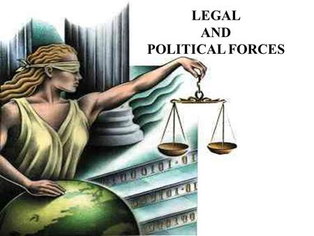 LEGAL AND POLITICAL FORCES. CHAPTER 7: LEGAL AND POLITICAL FORCES LEARNING OBJECTIVES To introduce the topic to the student and explain how country laws.