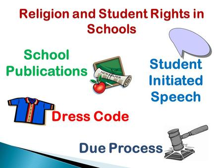 School Publications Student Initiated Speech Due Process Dress Code.