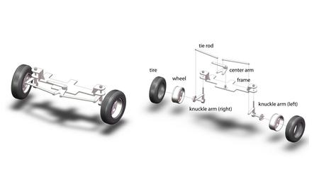 What do I have to do? Cause a motor to turn the center arm. attach motor to frame can redesign the center arm piece as needed use bushings or bearings.