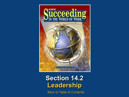 Section 14.2 Leadership Back to Table of Contents.