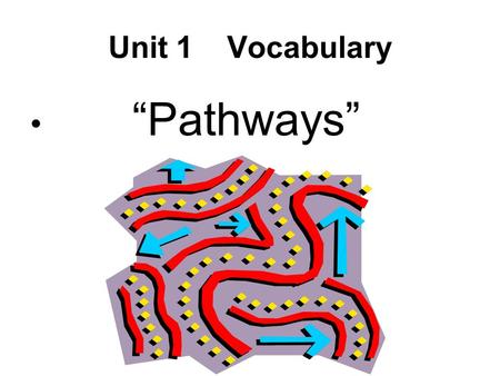 "Unit 1 Vocabulary ""Pathways"". S.O.R. Losers Vocabulary."