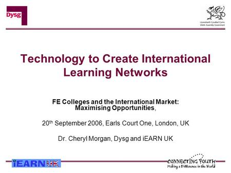 Technology to Create International Learning Networks