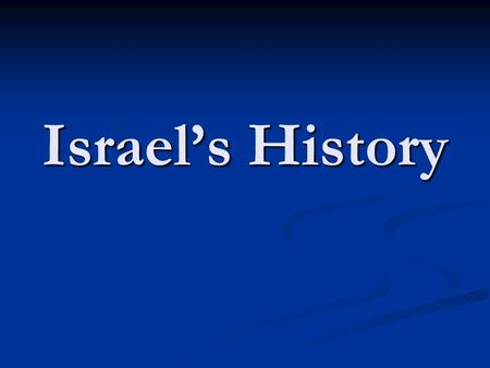 Israel's History. Abram was married to Sarai and they had no children.