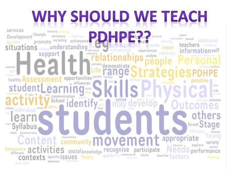 Personal Development Health and Physical Education for me is a vital learning and teaching unit in Primary Schools. It gives students the opportunity.