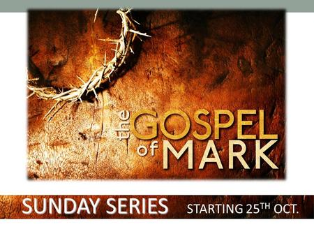 SUNDAY SERIES STARTING 25 TH OCT.. THE RELIABILITY OF THE BIBLE.
