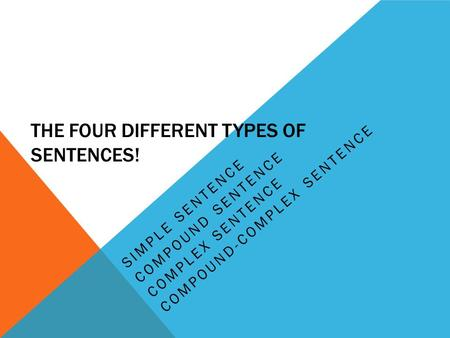 THE four DIFFERENT TYPES OF SENTENCES!