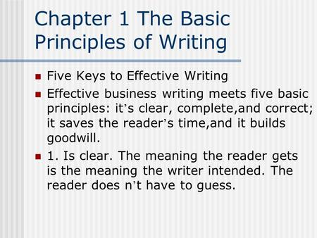 business writing principles 7 cs ppt