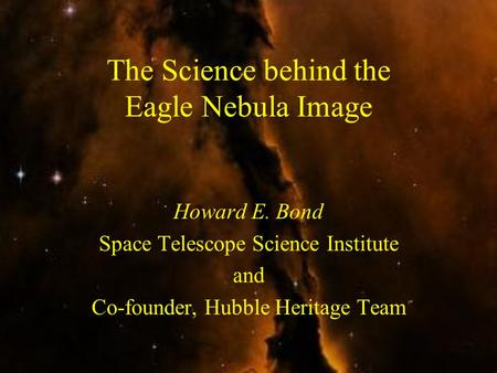 The Science behind the Eagle Nebula Image