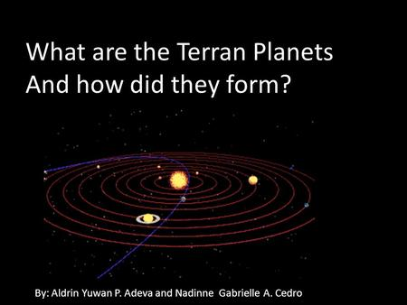 What are the Terran Planets And how did they form?