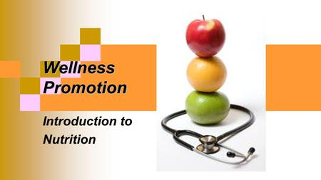 Wellness Promotion Introduction to Nutrition. 5 Leading causes of death associated with dietary habits 1. Coronary Heart Disease 2. Cancer 3. Stroke 4.
