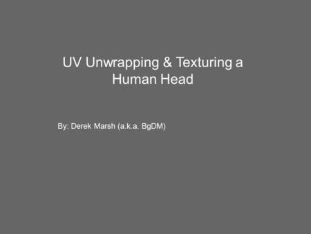 UV Unwrapping & Texturing a Human Head