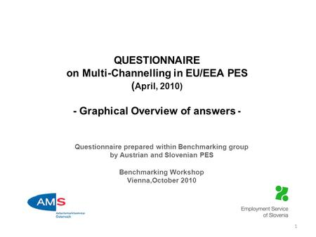 QUESTIONNAIRE on Multi-Channelling in EU/EEA PES ( April, 2010) - Graphical Overview of answers - Questionnaire prepared within Benchmarking group by Austrian.