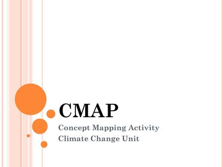 CMAP Concept Mapping Activity Climate Change Unit.