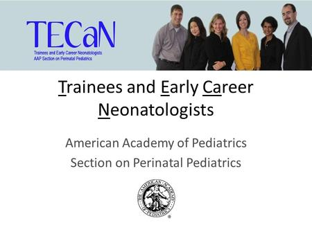 Trainees and Early Career Neonatologists American Academy of Pediatrics Section on Perinatal Pediatrics.