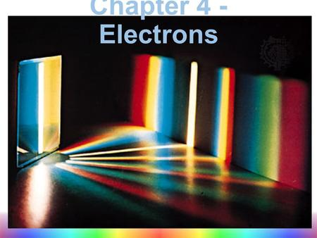 Chapter 4 - Electrons. Properties of Light What is light? A form of electromagnetic radiation: energy that exhibits wavelike behavior as it travels through.