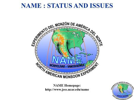 NAME : STATUS AND ISSUES NAME Homepage: