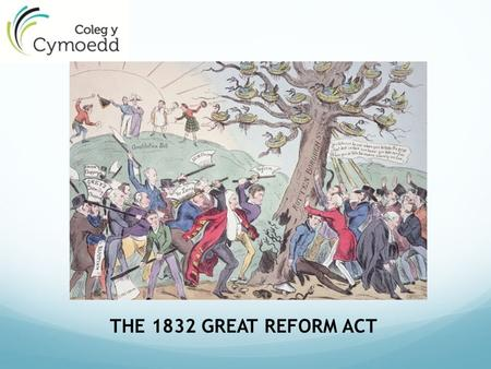 THE 1832 GREAT REFORM ACT.  1 st Reform Act – began process  Struggle with Lords, increased power of Commons  Step forward for democracy  143 borough.