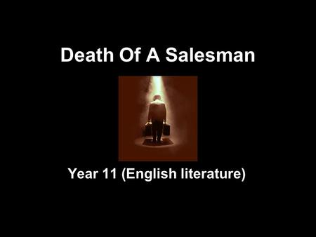 death salesman coursework Arthur miller's death of a salesman, written in the years following world war ii ( wwii), is widely considered to be among america's most.