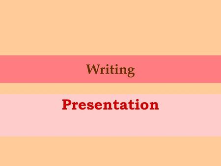 Writing Presentation. How to start? 1. Start quite formally: Today I´m going to talk about … In this presentation, I´d like to tell you a little bit about...