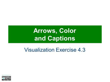Arrows, Color and Captions Visualization Exercise 4.3.