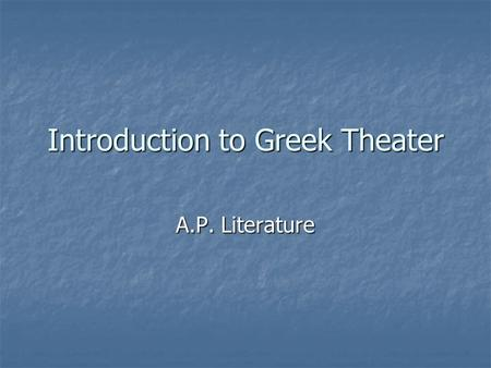 introduction to literature antigone Objectives 1 students are able to give the definition of literature and literary genres 2 students are able to give examples of literary works belonging to certain genres (poetry, fiction, drama)3.