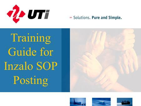 Training Guide for Inzalo SOP Posting. This guide has been prepared to demonstrate the use of the Inzalo Intranet based SOP Posting applications. The.