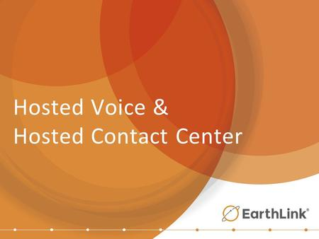 Hosted Voice & Hosted Contact Center